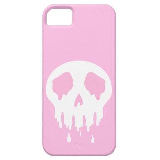 Caja rosada del cráneo de Melty iPhone 5 Carcasas