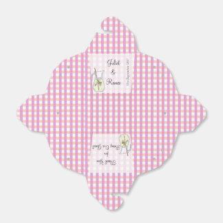 Caja rosada del favor de la limonada de la guinga cajas para detalles de boda