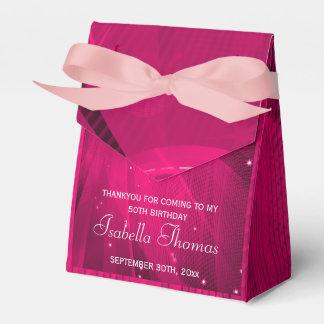 Caja rosada del favor de los talones de la bola de caja para regalos de fiestas