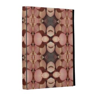Caja rosada del folio del iPad de los pétalos