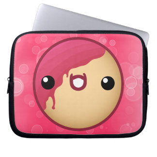 Caja rosada del ordenador portátil del buñuelo mangas portátiles