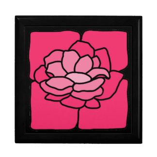 Caja rosada del recuerdo de la joyería de Lilly de Caja De Recuerdo