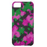 Caja rosada del teléfono celular del camuflaje