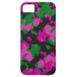 Caja rosada del teléfono celular del camuflaje iPhone 5 cárcasa