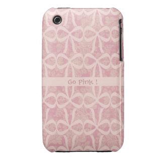 Caja rosada del teléfono de la cinta iPhone 3 carcasa