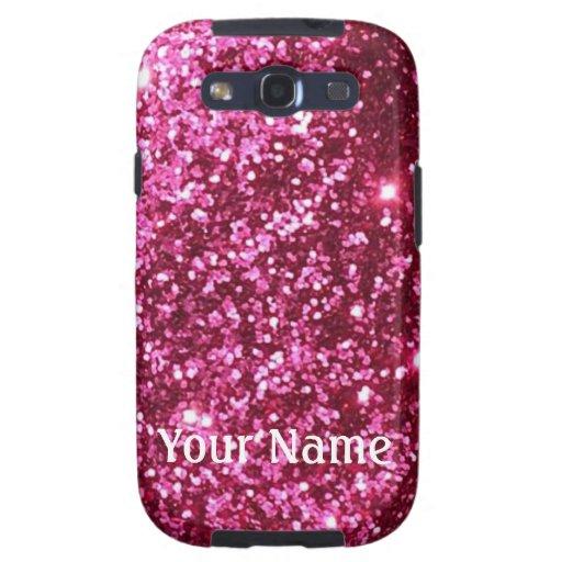 Caja rosada del teléfono de la galaxia s3 del bril samsung galaxy SIII funda