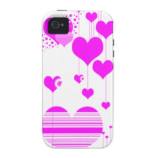 caja rosada del teléfono del corazón i Case-Mate iPhone 4 carcasas