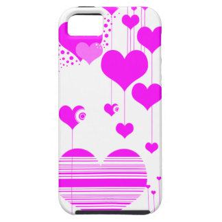 caja rosada del teléfono del corazón i iPhone 5 fundas