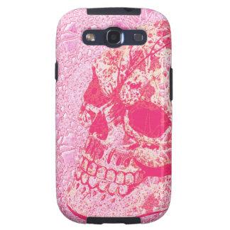 caja rosada del teléfono del cráneo del azúcar del galaxy SIII protectores