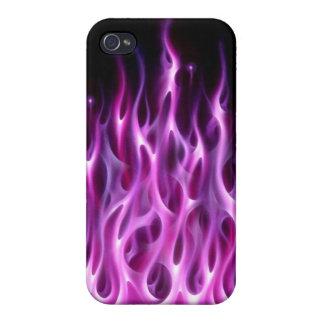 caja rosada del teléfono del fuego iPhone 4 cárcasa