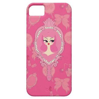 Caja rosada del teléfono del iPhone 5 del chica iPhone 5 Fundas