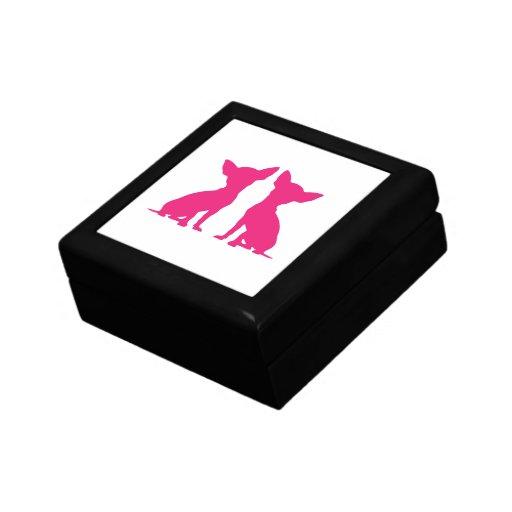 Caja rosada linda de la baratija del joyero de per caja de regalo