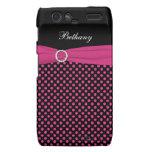 Caja rosada, negra, blanca de Motorola RAZR del lu Motorola Droid RAZR Fundas