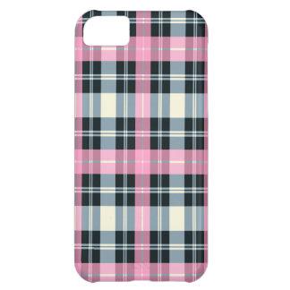 Caja rosada, negra y gris del iPhone 5 de la TELA  Funda Para iPhone 5C