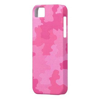 Caja rosada oscura del iPhone 5G del camuflaje iPhone 5 Fundas