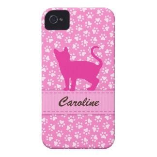 Caja rosada personalizada de Blackberry de los iPhone 4 Funda