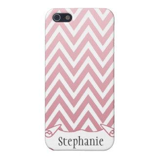 Caja rosada personalizada del iphone 4 del galón d iPhone 5 carcasas