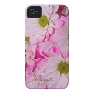 Caja rosada teñida del iPhone 4/4s de las margarit iPhone 4 Cárcasa