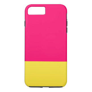 Caja rosada y amarilla del teléfono funda iPhone 7 plus