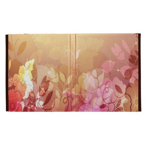 Caja rosada y anaranjada del folio del iPad del es