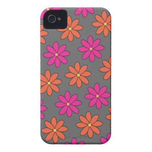 Caja rosada y anaranjada femenina del teléfono de iPhone 4 Case-Mate coberturas