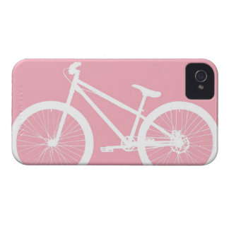 Caja rosada y blanca del iPhone 4s de la bicicleta Case-Mate iPhone 4 Protectores