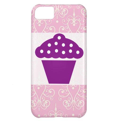 Caja rosada y blanca del iPhone 5 del modelo de la