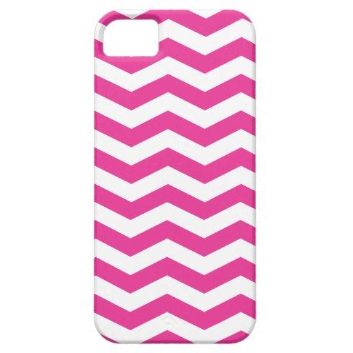 Caja rosada y blanca del iPhone de Chevron iPhone 5 Cárcasas