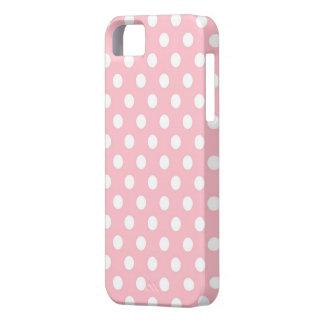 Caja rosada y blanca retra del iPhone 5s de los iPhone 5 Case-Mate Protector