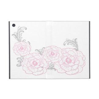 Caja rosada y gris de Ipad de la flor iPad Mini Carcasa