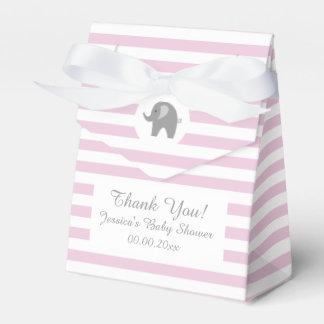 Caja rosada y gris del favor de fiesta de fiesta cajas para regalos de fiestas