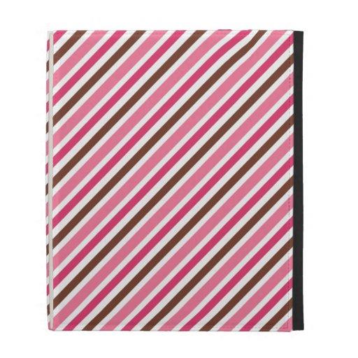 Caja rosada y marrón de moda elegante del folio de