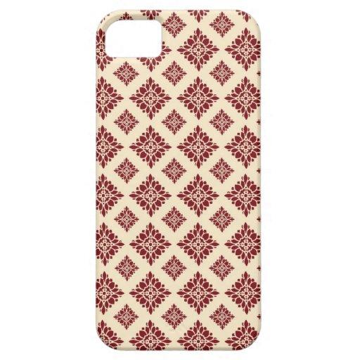 Caja rosada y marrón del iPhone 5 del damasco iPhone 5 Cárcasa