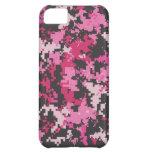 Caja rosada y negra del iPhone de Camo