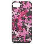 Caja rosada y negra del iPhone de Camo iPhone 5 Case-Mate Carcasa