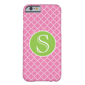 Caja rosada y verde de Barely There del iPhone 6 Funda Para iPhone 6 Barely There