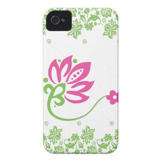 Caja rosada y verde del bolsillo de Paisley para i iPhone 4 Case-Mate Funda