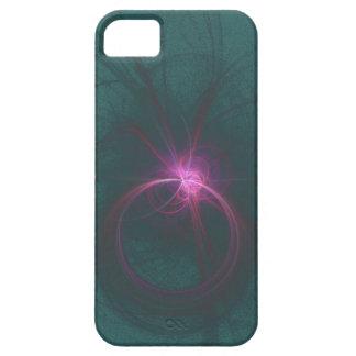 Caja rosada y verde del fractal funda para iPhone SE/5/5s