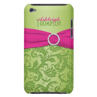 Caja rosada y verde del tacto de iPod del damasco iPod Touch Case-Mate Carcasas