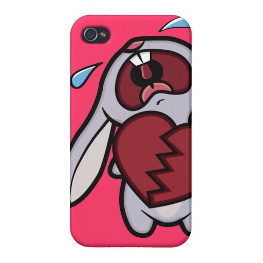 Caja rota corazón gritadora del iPhone 4 del conej iPhone 4/4S Carcasa