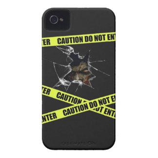 caja rota zombi del iphone iPhone 4 protectores