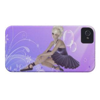 Caja rubia de Blackberry de la bailarina iPhone 4 Case-Mate Funda