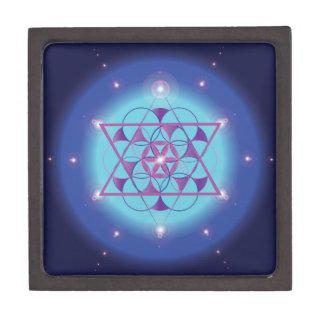 caja sagrada azul ultravioleta del hexagram de la caja de joyas de calidad