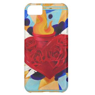 Caja sagrada del teléfono de Graffitti del corazón Carcasa Para iPhone 5C