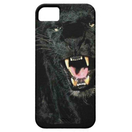 Caja salvaje del iPhone 5 de la pantera negra iPhone 5 Case-Mate Carcasa