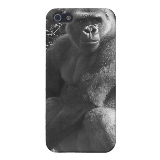 Caja salvaje del teléfono del mono iPhone 5 carcasa