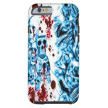 Caja sangrienta azul del iPhone 6 del cráneo