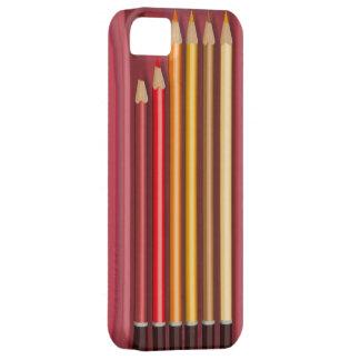Caja secreta coloreada de los lápices iPhone 5 coberturas