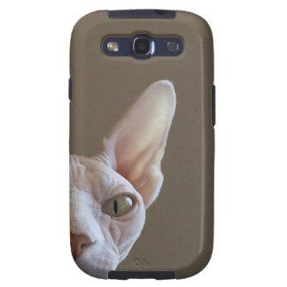 Caja sin pelo de la galaxia III de Samsung del gat Galaxy S3 Carcasa