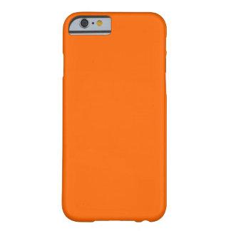 Caja sólida anaranjada de la identificación del funda de iPhone 6 barely there